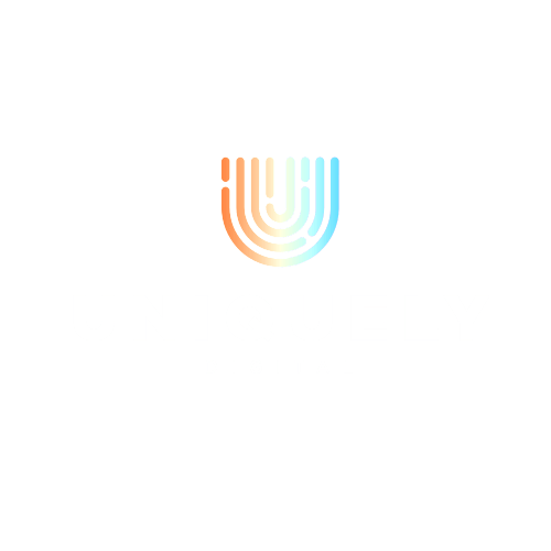 logo uniquely digital white transparent